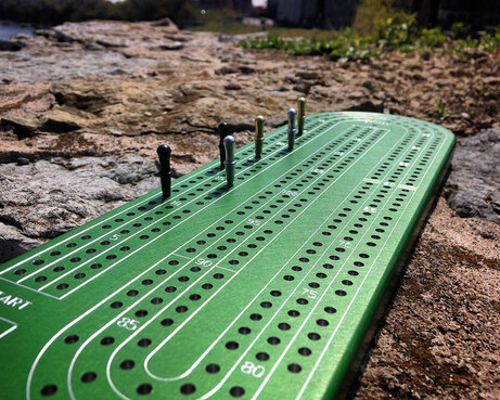 Green Anodized Custom Cribbage Board