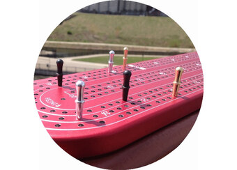 Red Anodized Aluminum Custom Cribbage Board